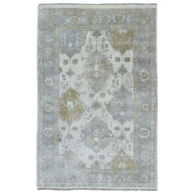 One-of-a-Kind Mitchel Oriental Hand-Woven Wool Beige Area Rug