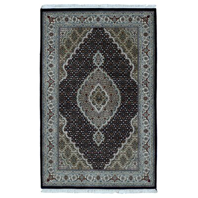 One-of-a-Kind Bakerstown Oriental Hand Woven Silk Blue/Brown Area Rug