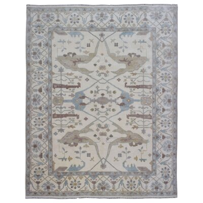 One-of-a-Kind Mitchel Traditional Oriental Hand-Woven Wool Rectangle Beige Area Rug