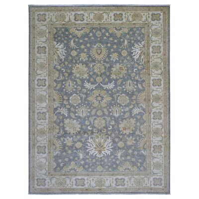 One-of-a-Kind Ardith Hand-Woven Wool Blue/Beige Area Rug