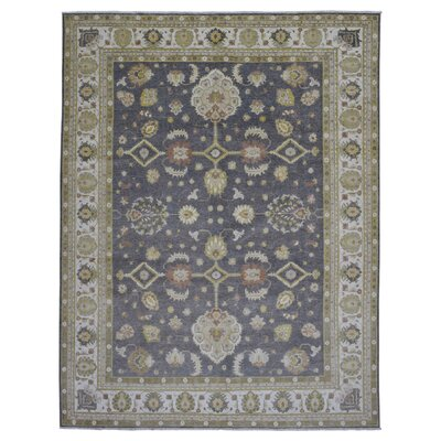 One-of-a-Kind Ardith Traditional Hand-Knotted Wool Gray Area Rug