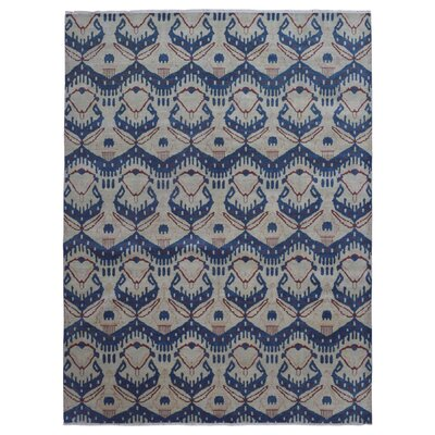 One-of-a-Kind  Rosemarie Oriental Hand Woven Wool Blue/Beige Area Rug