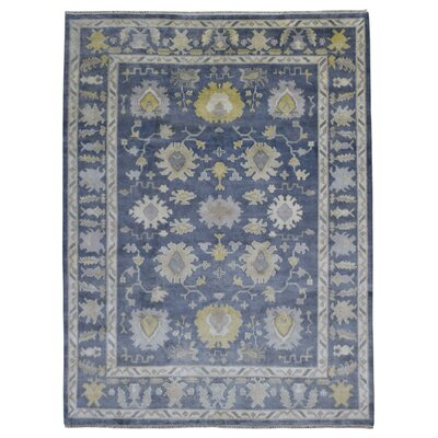 One-of-a-Kind Mitchel Oriental Hand-Woven Wool Blue Area Rug