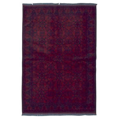 One-of-a-Kind San Vicente Khal Mohammadi Afghan Hand-Knotted Wool Red Area Rug