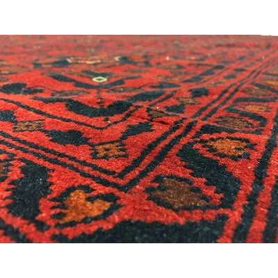 One-of-a-Kind San Vicente Khal Mohammadi Afghan Hand-Woven Wool Red Area Rug