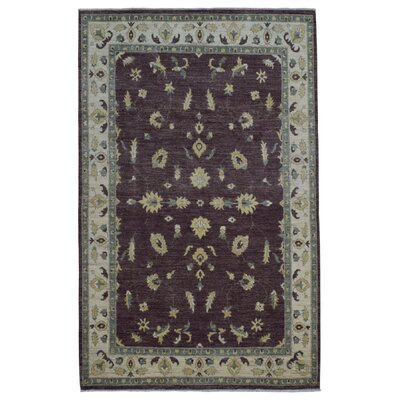 One-of-a-Kind Ardith Oriental Hand-Woven Wool Brown Area Rug