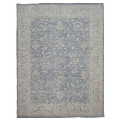 One-of-a-Kind Ardith Traditional Oriental Hand-Woven Wool Blue Area Rug