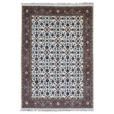 One-of-a-Kind Ballimamore Oriental Hand Woven Beige/Orange Area Rug