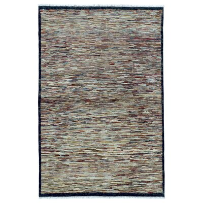 One-of-a-Kind Sarramea Hand-Knotted Wool Beige Area Rug