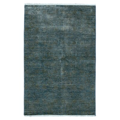 One-of-a-Kind Ptolemy Modern Design Oriental Hand Woven Blue/Gold Area Rug