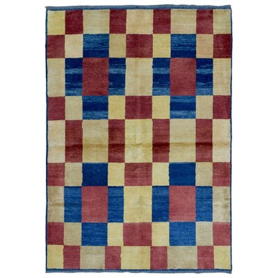 One-of-a-Kind Ricard Oriental Hand Woven Beige/Red/Blue Area Rug