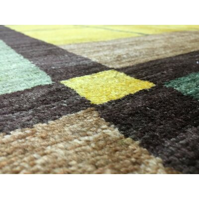 One-of-a-Kind Ricard Oriental Hand Woven Yellow Area Rug