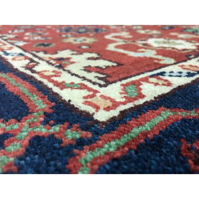 One-of-a-Kind Tanesha Oriental Hand Woven Red Area Rug