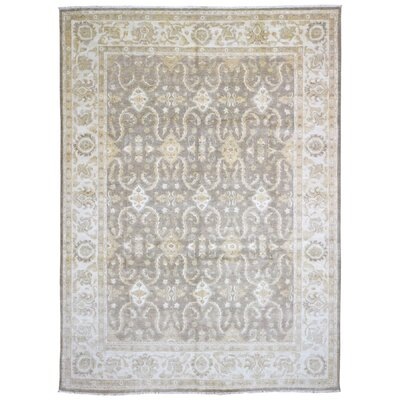 One-of-a-Kind Shumaker Hand-Woven Wool Gray/Beige Area Rug