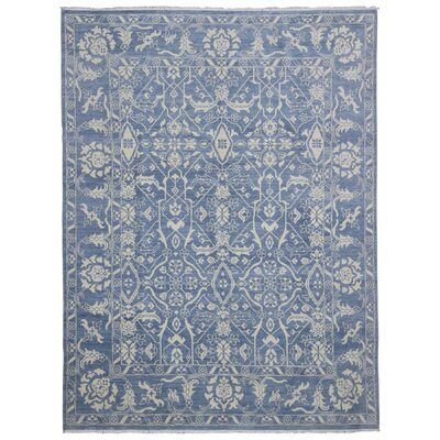 One-of-a-Kind Shumaker Hand-Woven Wool Blue Area Rug