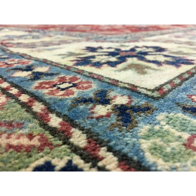 One-of-a-Kind Marjorie Hand-Woven Wool Red/Navy Area Rug