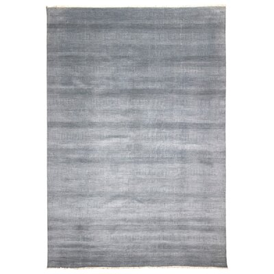 One-of-a-Kind Zorya Hand-Woven Wool and Silk White Area Rug