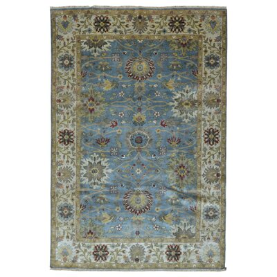 One-of-a-Kind Shumaker Hand-Woven Wool Blue/Beige Area Rug