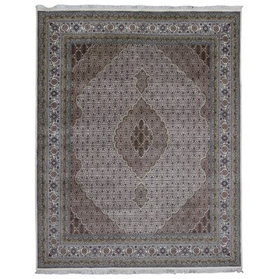 One-of-a-Kind Avonmore Hand-Woven Rectangle Wool and Silk Gray Area Rug
