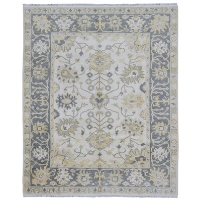 One-of-a-Kind Shumaker Hand-Woven Wool Beige Area Rug