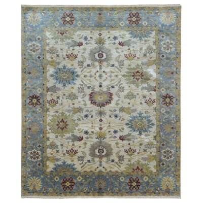 One-of-a-Kind Shumaker Hand-Woven Wool Beige/Blue Area Rug