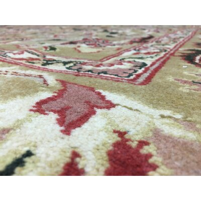 One-of-a-Kind Hand-Woven Wool Gold Area Rug