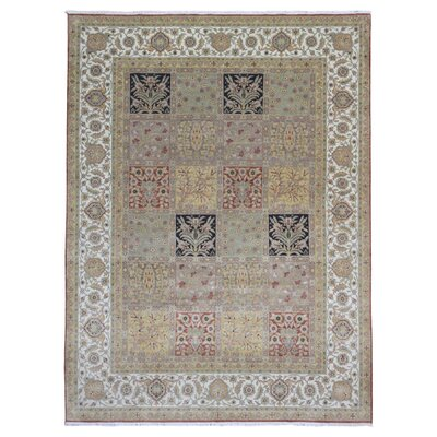 One-of-a-Kind Shumaker Traditional Hand-Woven Wool Green Area Rug