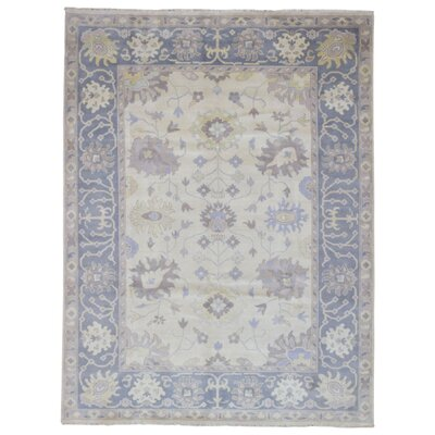 One-of-a-Kind Shumaker Hand-Woven Vegetable Dye Wool Beige Oriental Area Rug