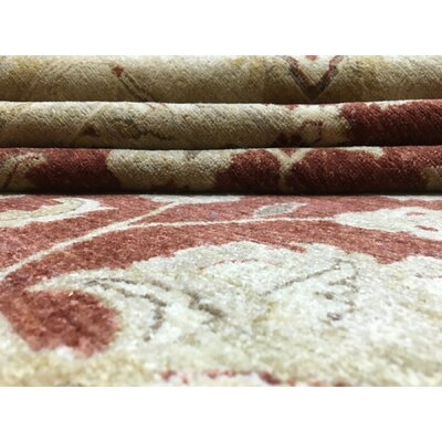 One-of-a-Kind Shumaker Hand-Woven Wool Red Area Rug