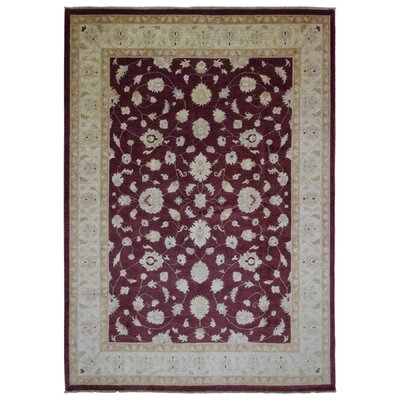One-of-a-Kind Shumaker Hand-Woven Wool Maroon Area Rug