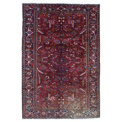 One-of-a-Kind Marjorie Hand-Woven Wool Red Area Rug