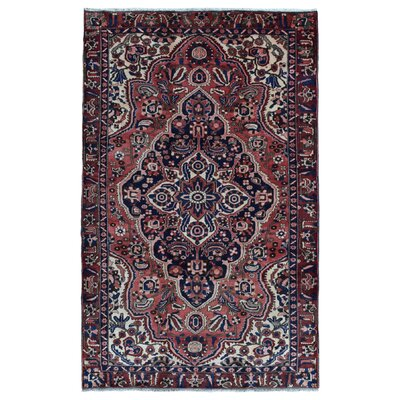 One-of-a-Kind Avonmore Traditional Hand-Woven Wool Red/Blue Area Rug
