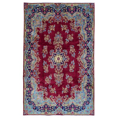 One-of-a-Kind Avonmore Traditional Hand-Woven Wool BlueBlue/Red Area Rug