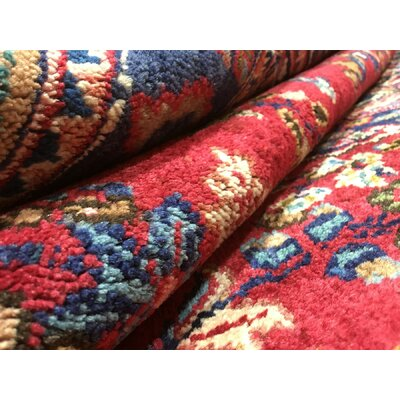 One-of-a-Kind Avonmore Hand-Woven Rectangle Wool Blue/Red Area Rug