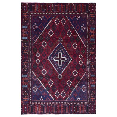 One-of-a-Kind Hand-Woven Wool Red Area Rug