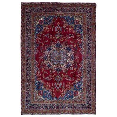Avonmore Hand-Woven Wool Blue Geometric Area Rug