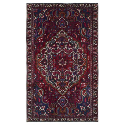 One-of-a-Kind Avonmore Hand-Woven Wool Red/Blue Area Rug