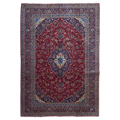 Avonmore Traditional Hand-Woven Wool Navy Area Rug