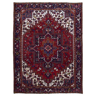 One-of-a-Kind Marjorie Hand-Woven Wool Red/Purple Area Rug