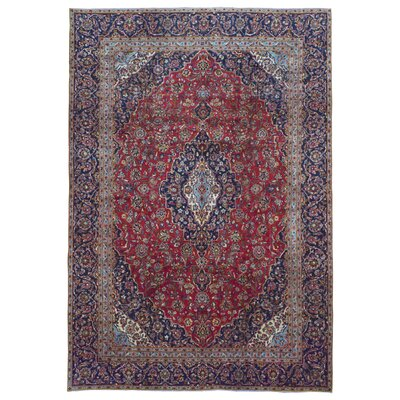 One-of-a-Kind Avonmore Hand-Woven Wool Navy/Red Area Rug