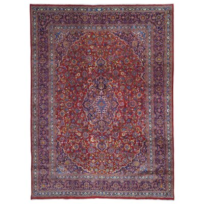 One-of-a-Kind Avonmore Hand-Woven Wool Blue/Red Area Rug