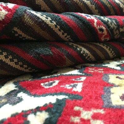 One-of-a-Kind Aegean Baluch Hand Woven Wool Beige Area Rug