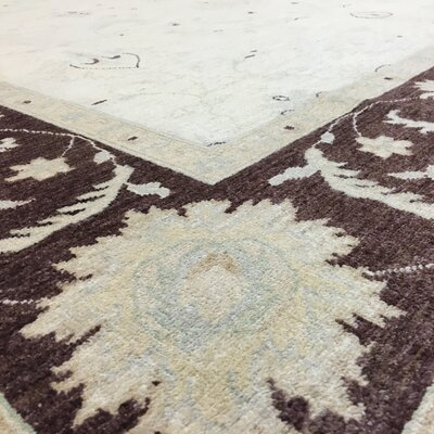 One-of-a-Kind Pearle Oriental Hand Woven Wool Beige Area Rug