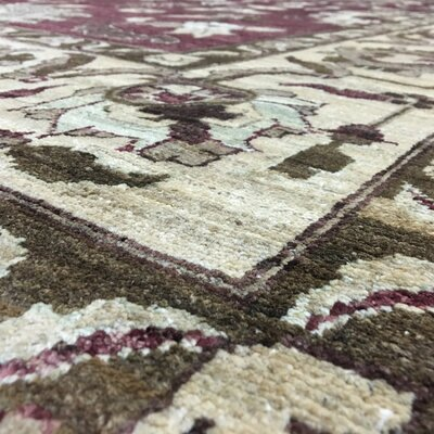 One-of-a-Kind Pearle Hand Woven Wool Red Area Rug