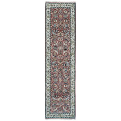 One-of-a-Kind Exmore Oriental Runner Hand-Knotted Wool Red/Yellow Area Rug