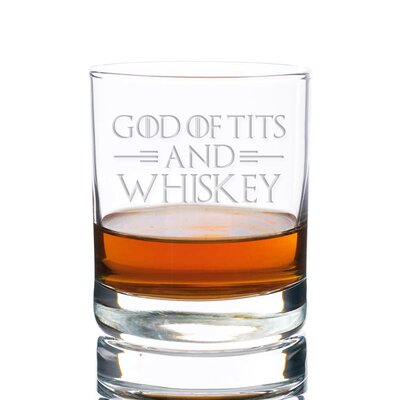 Sneller God of Tits and Whiskey Rocks 10 oz. Glass Every Day Glass