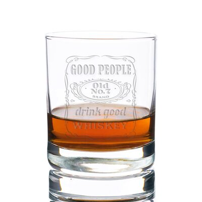 Sneller Good People Drink Good Whiskey 10 oz. Glass Every Day Glass