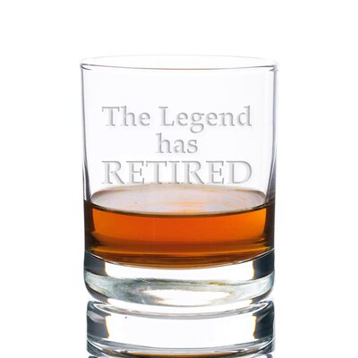 Sigler The Legend Has Retired Rocks 10 oz. Glass Every Day Glass