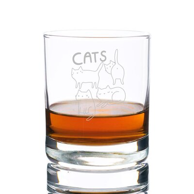 Sneller Cats Rocks 10 oz. Glass Every Day Glass