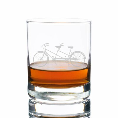 Sigler Tandem Bike Rocks 10 oz. Glass Every Day Glass